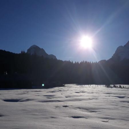 paessaggio invernale in Val Visdende