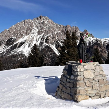 panorama invernale a Monte Zovo